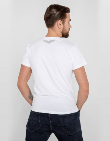 Men's T-Shirt An-225. Color white. Unisex T-shirt (men's sizes).