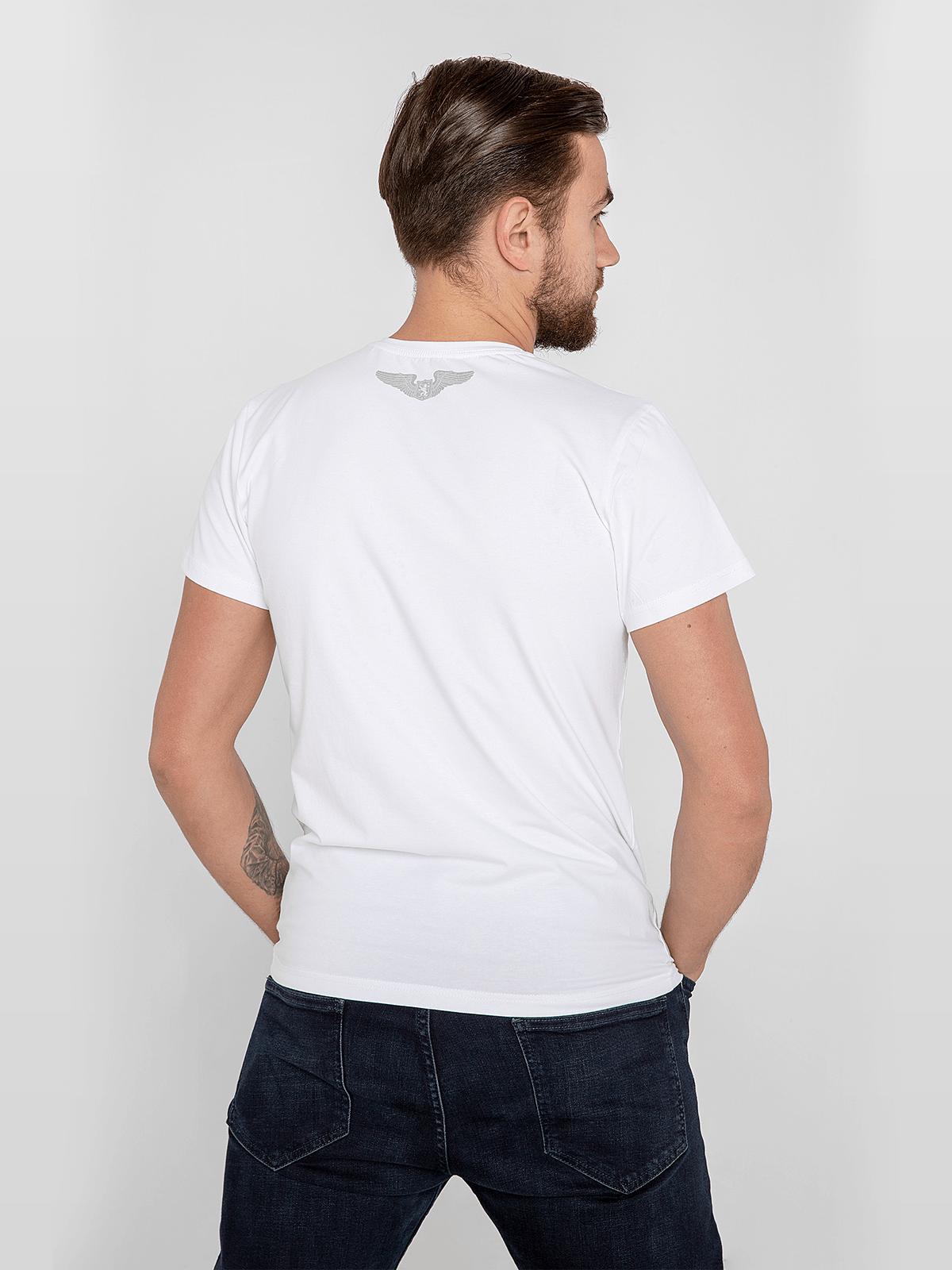 Men's T-Shirt An-225. Color white.  Material: 95% cotton, 5% spandex.