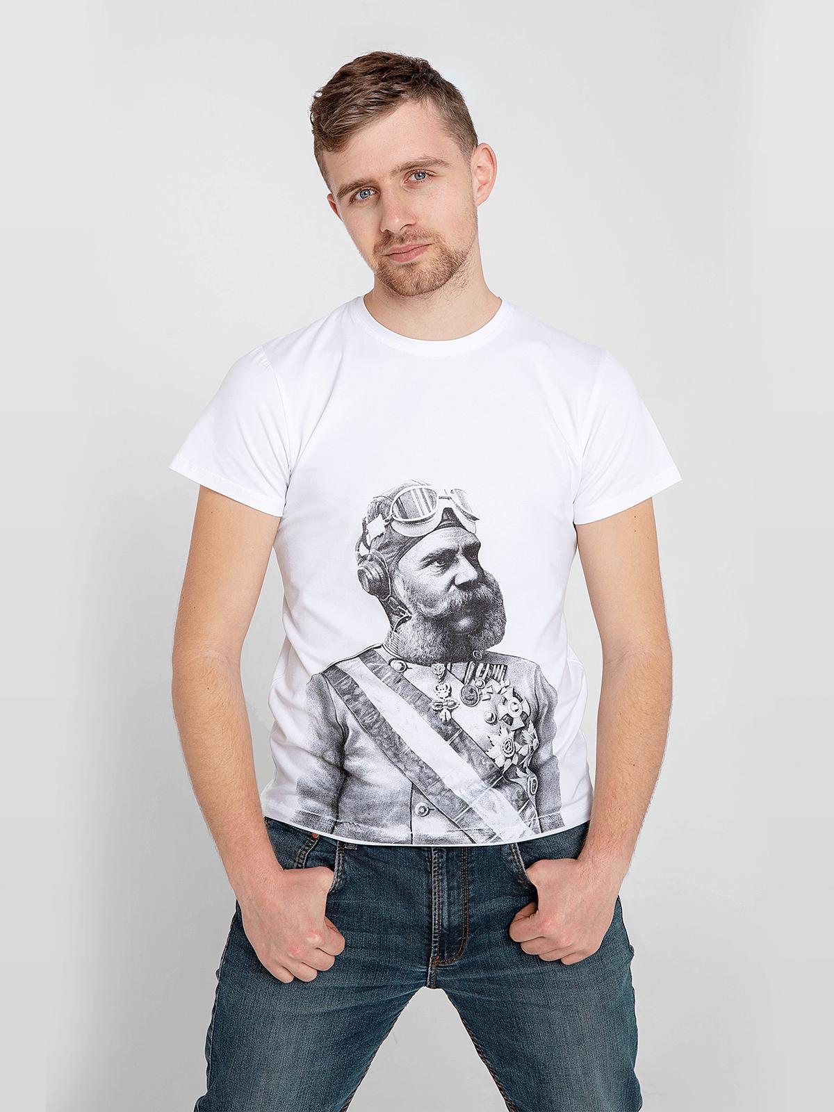 Чоловіча Футболка Франц Йосиф. Колір білий. Цей продукт наявнийВ ОСТАННІХ ЕКЗЕПЛЯРАХі більшеВИГОТОВЛЯТИСЬ НЕ БУДЕ.