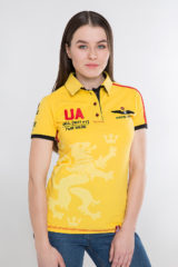Women's Polo Shirt Follow Me. Pique fabric: 100% cotton.