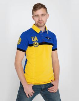 Men's Polo Shirt 7 Brigade (Petro Franko). Color navy blue. Тканина піке: 100% бавовна.