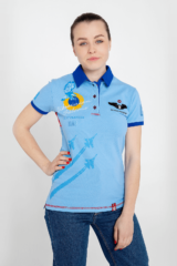 Women's Polo Shirt Ukrainian Falcons. Pique fabric: 100% cotton.