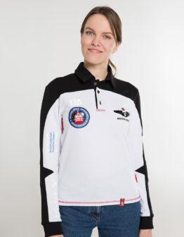Women's Polo Long Molfar-X. Color white. Поло унісекс (розміри чоловічі).