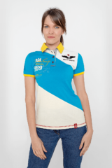 Women's Polo Shirt Synevyr. Pique fabric: 100% cotton.