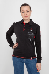 Women's Polo Long 12 Brigade (Kalyniv). Material: 75% cotton, 21% polyester, 4% spandex.