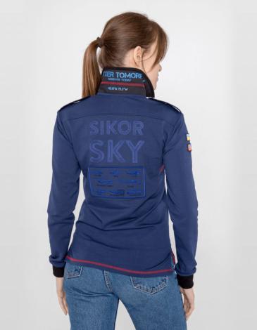 Жіноче Поло-Лонґ Sikorsky. Колір синій. Поло-лонґ унісекс (розміри чоловічі).