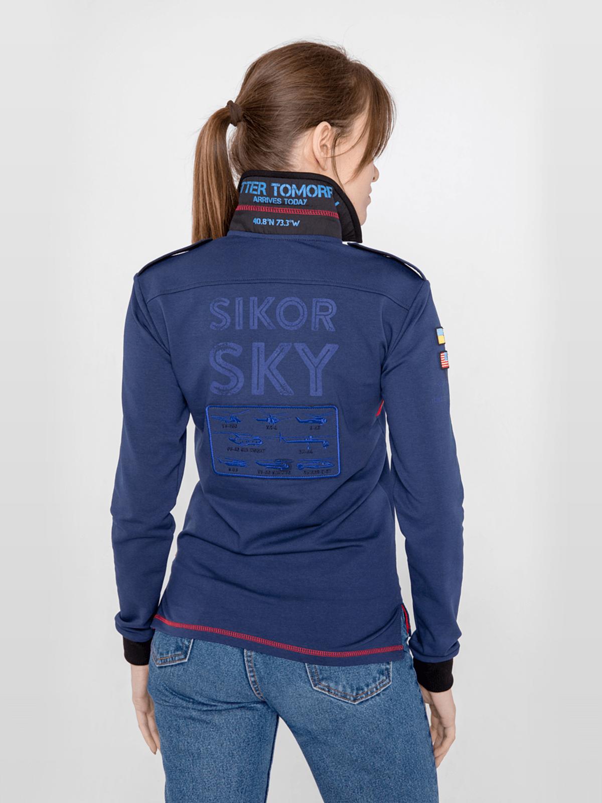 Жіноче Поло-Лонґ Sikorsky. Колір синій.  Не варто переживати за універсальний розмір.