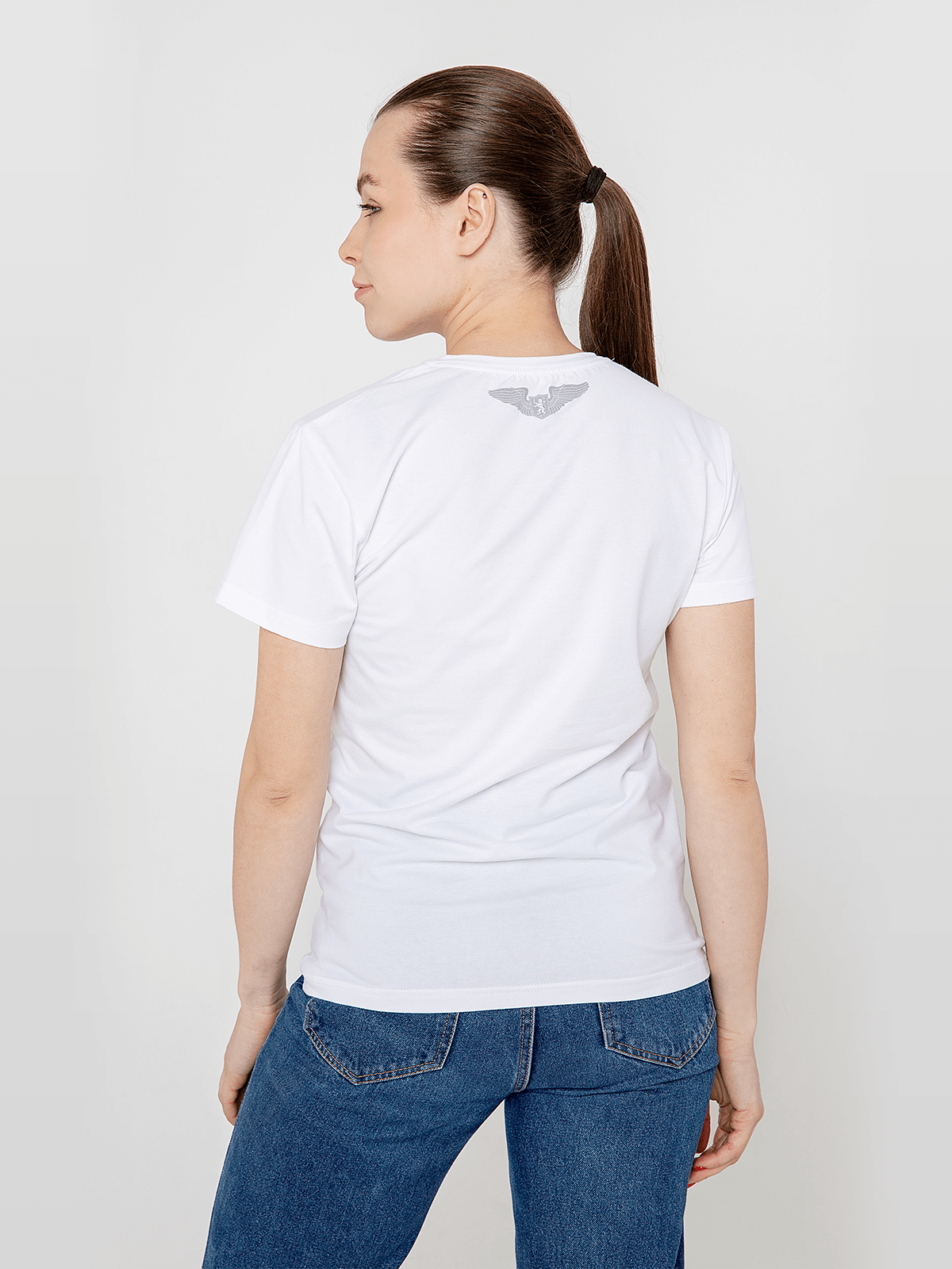 Women's T-Shirt An-225. Color white.  Don't worry about the universal size.