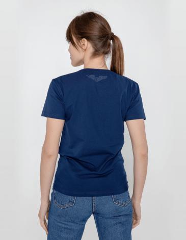 Women's T-Shirt Bee. Color dark blue. Material: 95% cotton, 5% spandex.