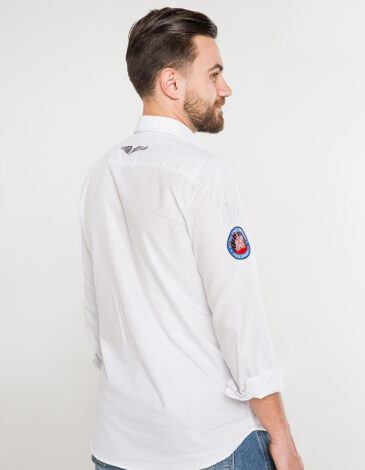 Чоловіча Сорочка Molfar-X. Колір білий.  Технологія нанесення зображень: шовкодрук, вишивка.