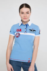 Women's Polo Shirt Molfar. Pique fabric: 100% cotton.