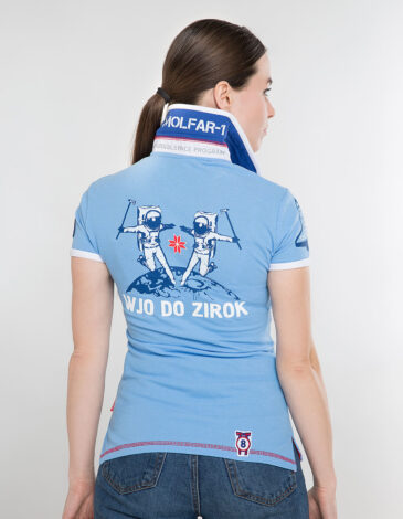 Жіноче Поло Molfar. Колір блакитний. Тканина піке: 100% бавовна.