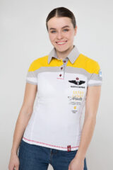 Women's Polo Shirt Borzhava. Pique fabric: 100% cotton.