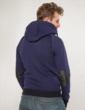 Чоловіче Худі Syla. Колір синій.  Розмір на моделі: М.