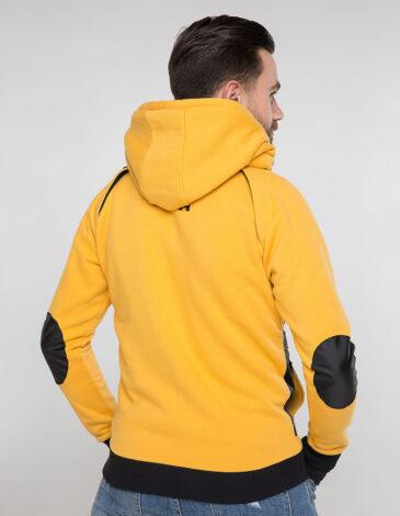Чоловіче Худі Syla. Колір жовтий.  Матеріал вставок – оксфорд: 100% поліестер.