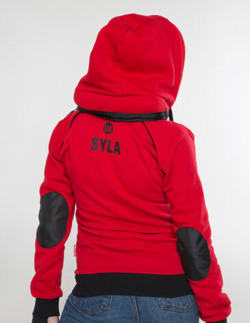 Жіноче Худі Syla. Колір червоний. Худі унісекс (розміри чоловічі).