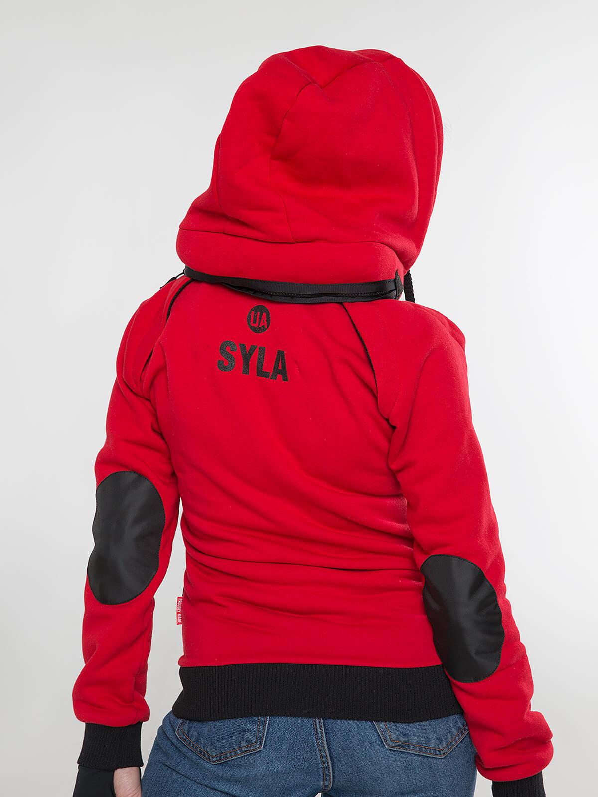 Жіноче Худі Syla. Колір червоний.  Не варто переживати за універсальний розмір.