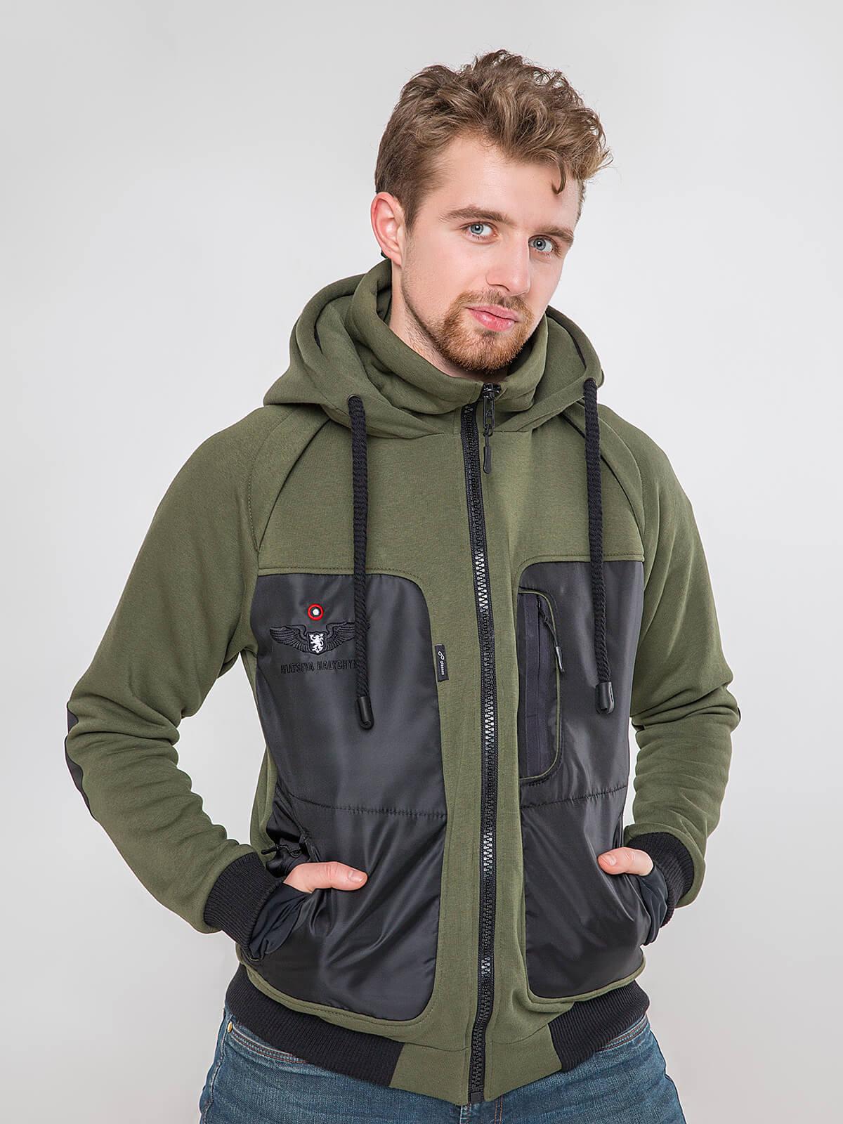 Men's Hoodie Syla. Color khaki. Unisex hoodie (men's sizes).