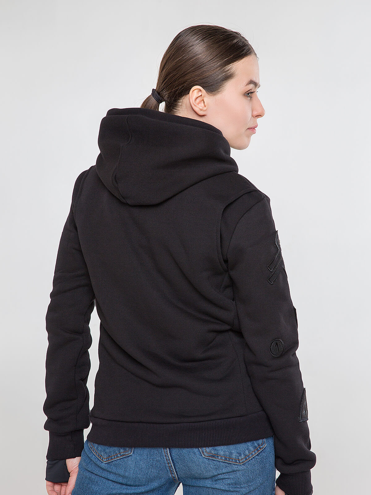 Women's Hoodie Wings. Color black.  Don't worry about the universal size.