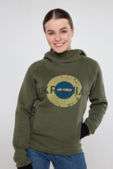 Women's Hoodie Ukrainian Air Force. Unisex polo long (men's sizes).