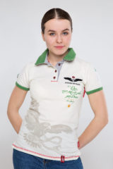 Women's Polo Shirt Ivan Franko. Pique fabric: 100% cotton.