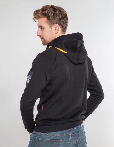 Men's Hoodie Petros. Color black. Unisex hoodie (men's sizes).