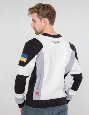 Men's Sweatshirt Molfar-X. Color white. Material: 95% cotton, 5% spandex.