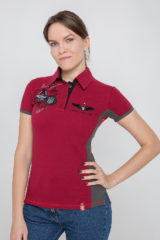 Women's Polo Shirt Flying Cossacks. Pique fabric: 100% cotton.