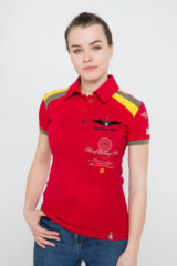 Women's Polo Shirt Indian. Pique fabric: 100% cotton.