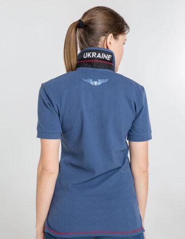 Women's Polo Shirt Wings. Color denim. 8.
