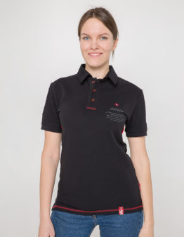 Women's Polo Shirt Wings. Color black. 10.