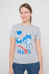 Women's T-Shirt Wjo Na Mars. Material: 95% cotton, 5% spandex.
