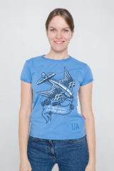 Women's T-Shirt Wild Wings. Material: 95% cotton, 5% spandex.