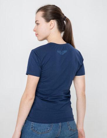 Women's T-Shirt Ukrainian Air Force. Color dark blue. Unisex T-shirt (men's sizes).