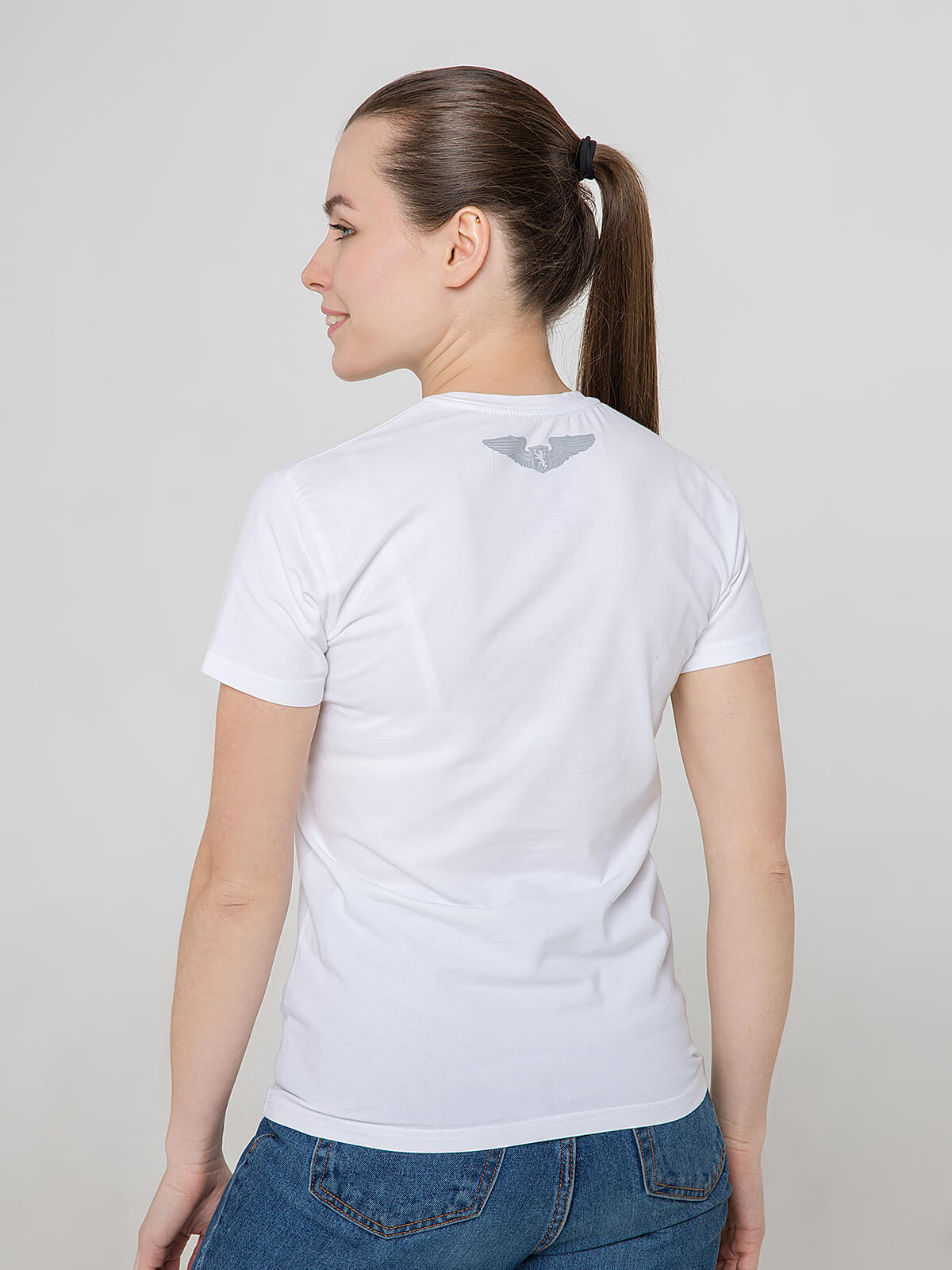 Women's T-Shirt Franz Joseph. Color white.  Don't worry about the universal size.