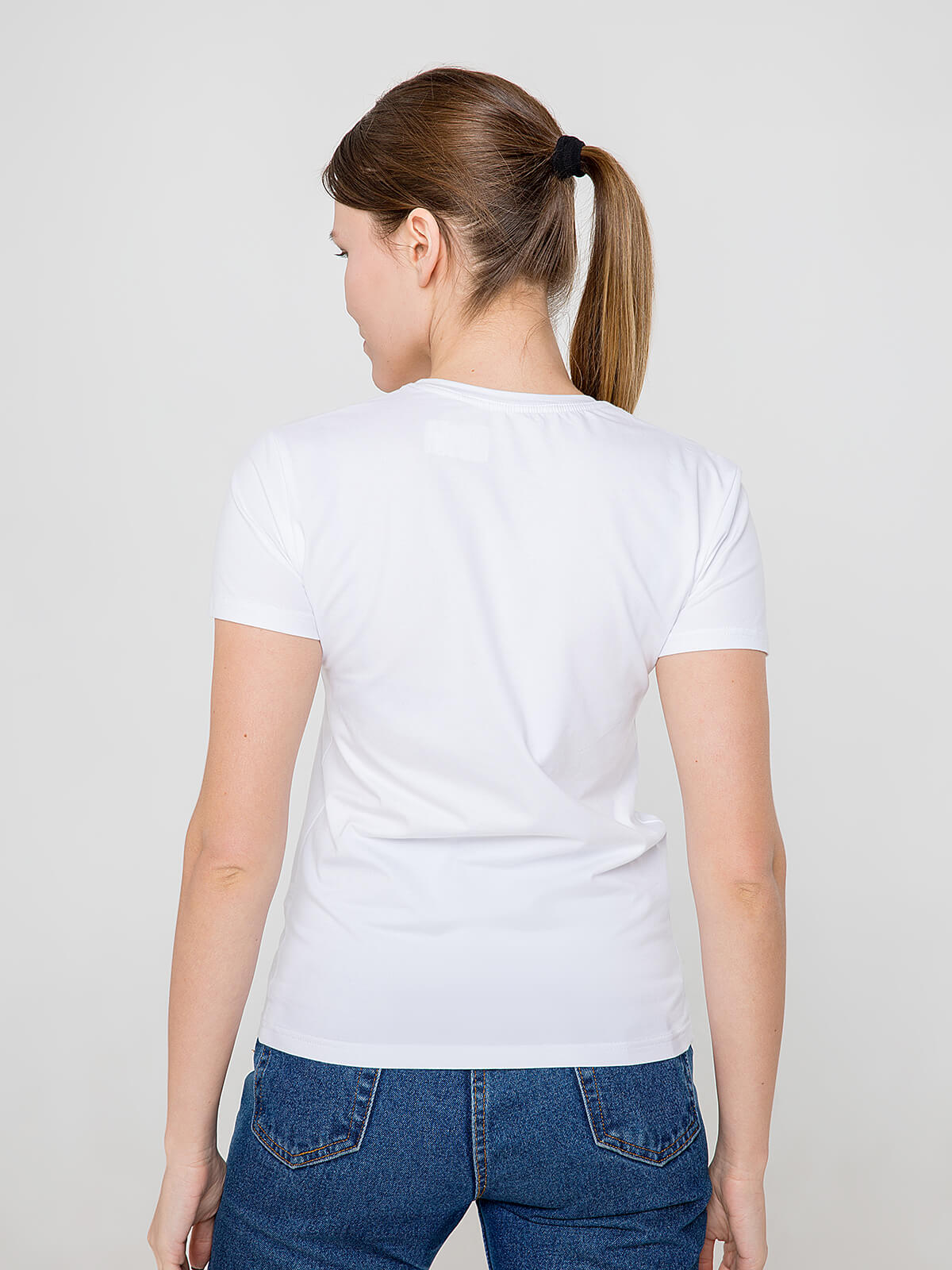Women's T-Shirt Eagle. Color white.  Don't worry about the universal size.