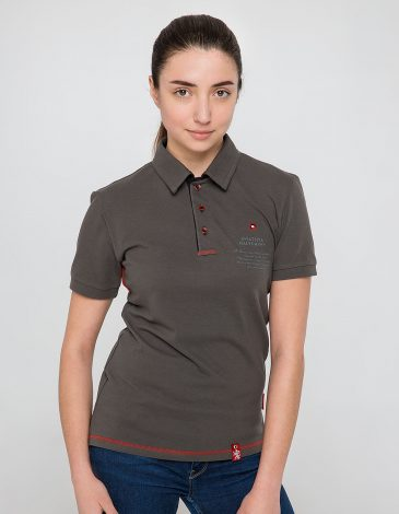 Women's Polo Shirt Wings. Color Khaki. Unisex polo (men's sizes).