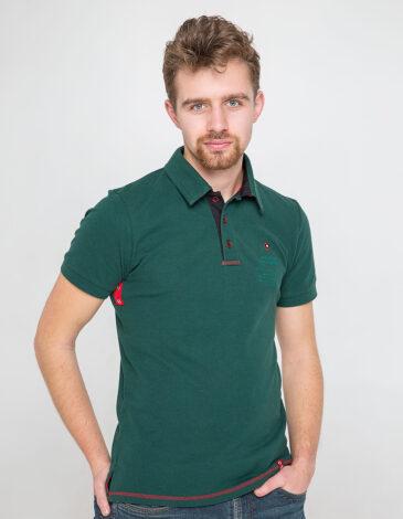 Men's Polo Shirt Wings. Color dark green. 9.