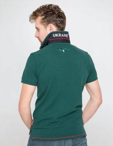 Men's Polo Shirt Wings. Color dark green. 10.