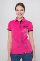 Women's Polo Shirt Lesia Ukrainka. Pique fabric: 100% cotton.