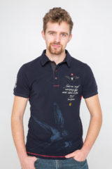 Men's Polo Shirt Lesia Ukrainka. Pique fabric: 100% cotton.