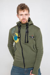 Men's Hoodie Ukrainian Falcons. Material: 77% cotton, 23% polyester.