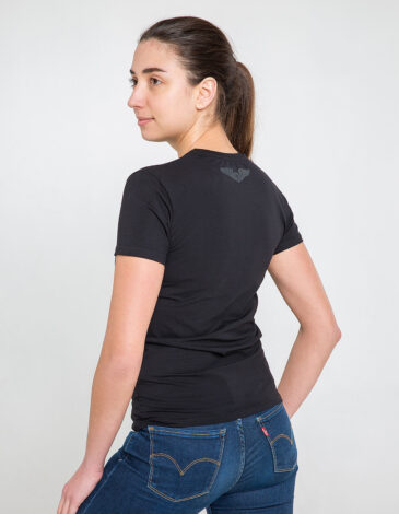 Women's T-Shirt Fight Like Ukrainian. Color black. Material: 95% cotton, 5% spandex.