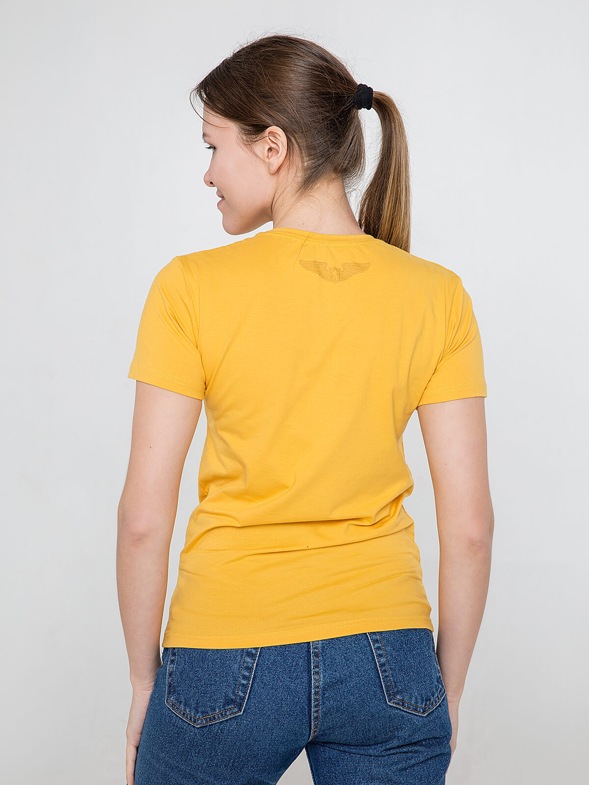 Women's T-Shirt Mriya. Color yellow.  Don't worry about the universal size.