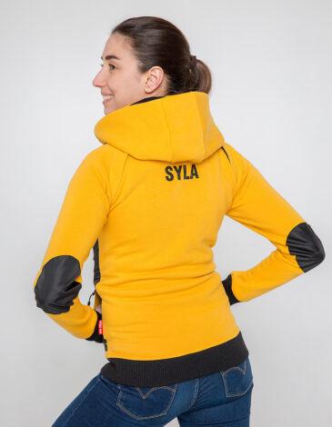 Жіноче Худі Syla. Колір жовтий.  Матеріал вставок – оксфорд: 100% поліестер.
