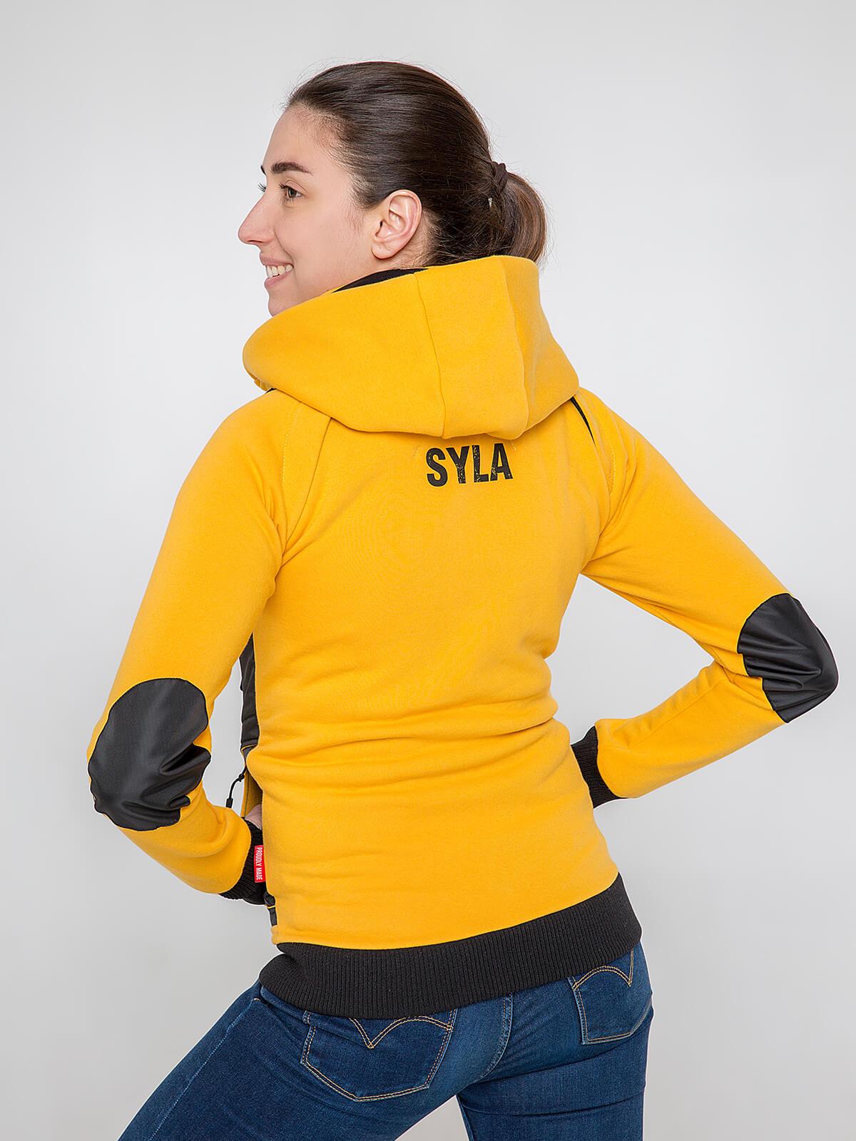 Жіноче Худі Syla. Колір жовтий.  Не варто переживати за універсальний розмір.