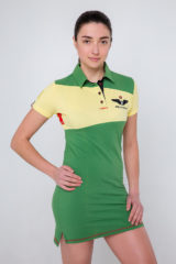 Women's Dress-Polo Shirt Darusia. Pique fabric: 100% cotton.