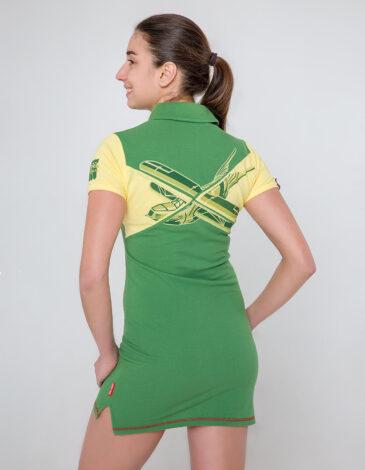 Жіноча Сукня-Поло Даруся. Колір жовтий. Тканина піке: 100% бавовна.