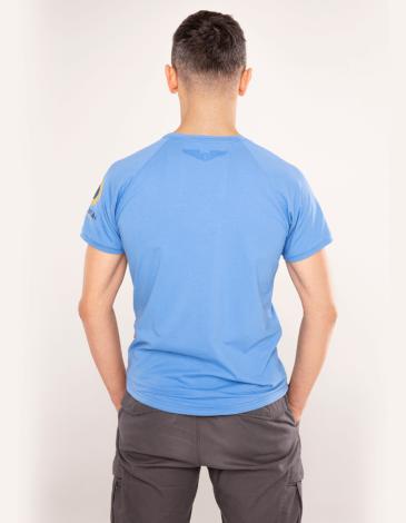 Men's T-Shirt Su-24. Color sky blue. Material: 95% cotton, 5% spandex.