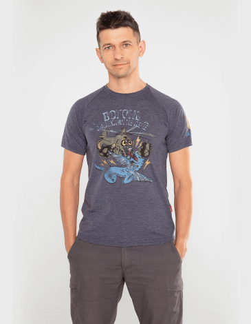 Men's T-Shirt The Fire Of Fiery. Color navy blue. Material: 95% cotton, 5% spandex.